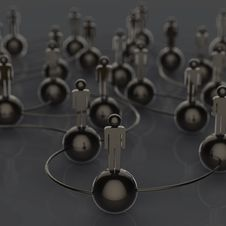 3d Stainless Human Social Network And Leadership As Concept Royalty Free Stock Images