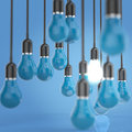 Free Creative Idea And Leadership Concept Light Bulb Royalty Free Stock Photography - 30561567