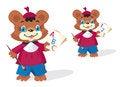 Free Funny Bear Pupil Stock Photo - 30562620