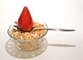 Free Strawberry Spoon And Cereal Stock Photo - 30565930