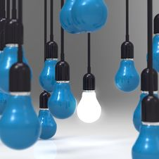 Free Creative Idea And Leadership Concept Light Bulb Royalty Free Stock Photos - 30560158