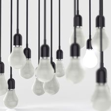 Free Creative Idea And Leadership Concept Light Bulb Royalty Free Stock Image - 30560406