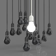 Free Creative Idea And Leadership Concept Light Bulb Royalty Free Stock Images - 30560559