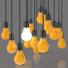 Free Creative Idea And Leadership Concept Light Bulb Royalty Free Stock Images - 30560639