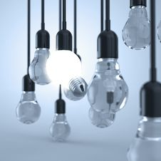 Free Creative Idea And Leadership Concept Light Bulb Stock Image - 30561041