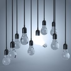 Free Creative Idea And Leadership Concept Light Bulb Royalty Free Stock Image - 30561086