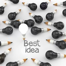 Free Drawing Idea Pencil And Light Bulb Concept Stock Images - 30562184