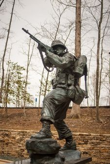 Military Iron Statue Stock Images