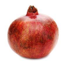 Free Ripe Pomegranate Fruit On White Background. Closeup. Stock Images - 30569054