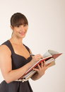 Free Young Attractive Female Office Worker Stock Photography - 30575642