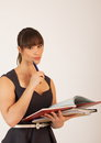 Free Young Attractive Female Office Worker Stock Photos - 30575683