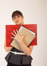 Free Young Attractive Female Office Worker Stock Image - 30575731