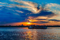 Free Songhua River Sunset Royalty Free Stock Images - 30576109