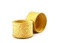 Free Wooden Rice Box Thai Style On White Background Stock Photos - 30578943