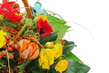 Free Fragment Of Colorful Bouquet Isolated On White Background. Stock Photo - 30570970