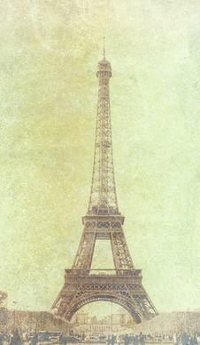 Free Vintage Photo Of Eiffel Tower Stock Photography - 30572382