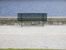 Free Bench Along The Sea Side Royalty Free Stock Photos - 30573658