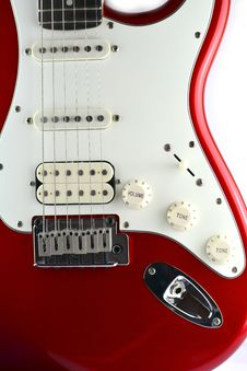 Red Electric Guitar Body Stock Images