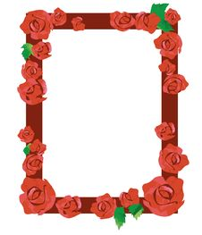 Free Red Rose Frame Stock Photo - 30575060