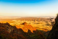 Free The Distant Mountains In Autumn Stock Photography - 30577322