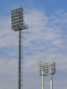 Floodlight In Cloudy Royalty Free Stock Photo