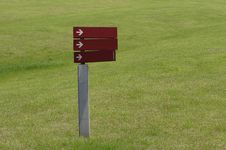 Free Blank Sign In Grassland Stock Image - 30581151