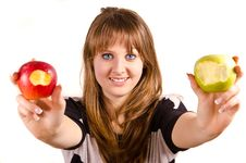 Free Girl And Apples Stock Photos - 30582603