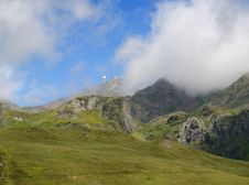 Free Summer Mountains With An Observatory In Pyrenees Stock Photos - 30584313