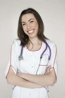 Free Doctor With Stethoscope Stock Image - 30586861