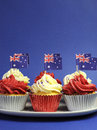 Free Australian Theme, Cupcakes With National Flag Royalty Free Stock Photo - 30591915