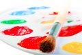 Free Artists Brush On A White Palette Stock Photography - 30596462