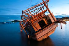 Free Old Boat, Rayong, Thailand Stock Photo - 30591250