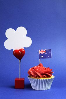Free Australian Theme, Cupcakes With National Flag Royalty Free Stock Image - 30592056