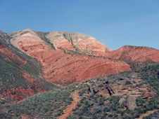 Red Hill In The Desert Stock Images