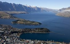 Free Beautiful Scenery Of The Queenstown Bay, New Zealand Royalty Free Stock Image - 30593646