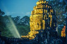 Bayon Stone Faces Royalty Free Stock Image
