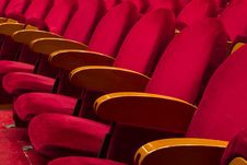 Free Empty Red Seats For Cinema Royalty Free Stock Images - 30595929