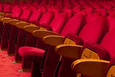 Free Empty Red Seats For Cinema Stock Photos - 30595953