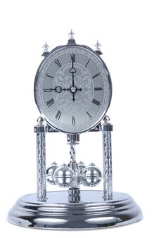 Chrome Old Fashioned Clock Royalty Free Stock Photo