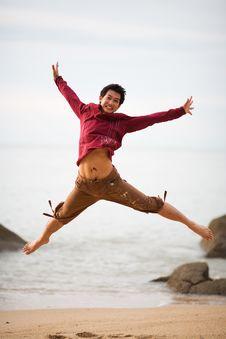 Free Happy Jump Stock Image - 3060851