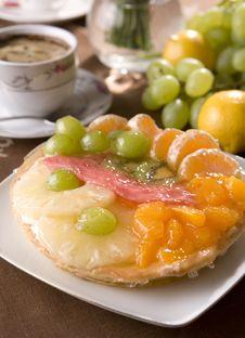 Fruit Tarta Stock Image