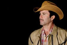 Portrait Of A Cowboy Royalty Free Stock Image