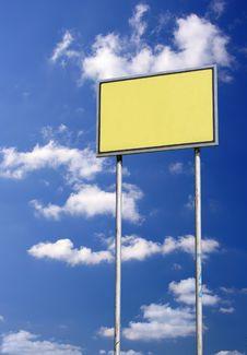 Free Blank Sign Against Blue Sky Stock Photos - 3063713