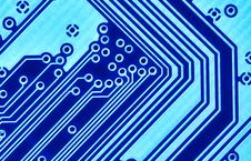 Free Blue Circuit Board Macro Stock Photography - 3063742