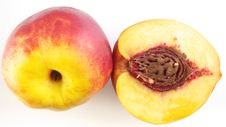 Half Peach & Peach Royalty Free Stock Photo