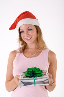 Free Girl With Gift Box Stock Photos - 3063903