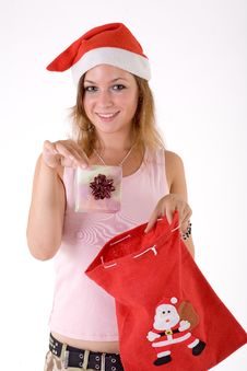 Free Girl With Gift Box Royalty Free Stock Photography - 3063977