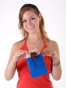 Free Girl With Gift Box Stock Photos - 3064063