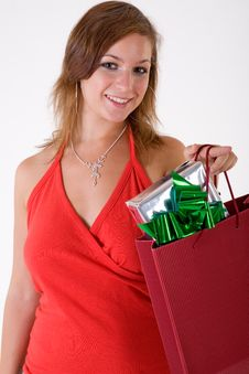 Free Girl With Gift Box Royalty Free Stock Photos - 3064118