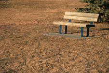 Free Autumn Bench Royalty Free Stock Photo - 3064125